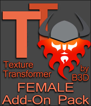 Texture Transformer Female Add-on Pack