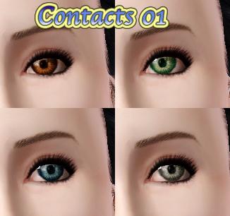 SIMS3:非置き換え型Eyes(コンタクト)3種追加