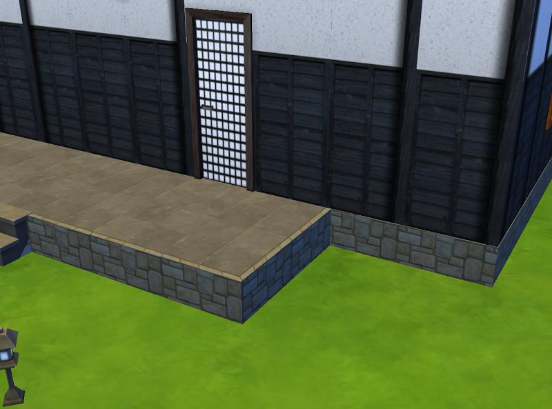 SIMS4: 和風壁追加と修正