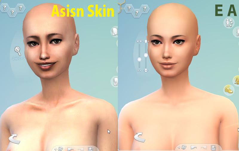 SIMS4:アジアンスキン配布します
